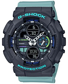 Men's Analog-Digital Blue Resin Strap Watch 45.9mm