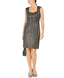 Square-Neck Sheath Dress