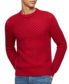 Men's Honeycomb-Knit Sweater