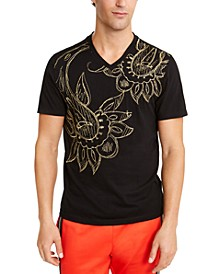 INC Men's Finalized Paisley T-Shirt, Created for Macy's