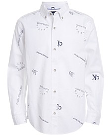 Big Boys Logo-Print Oxford Shirt