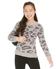 Epic Threads Big Girls Leopard Sweater, Created For Macy's