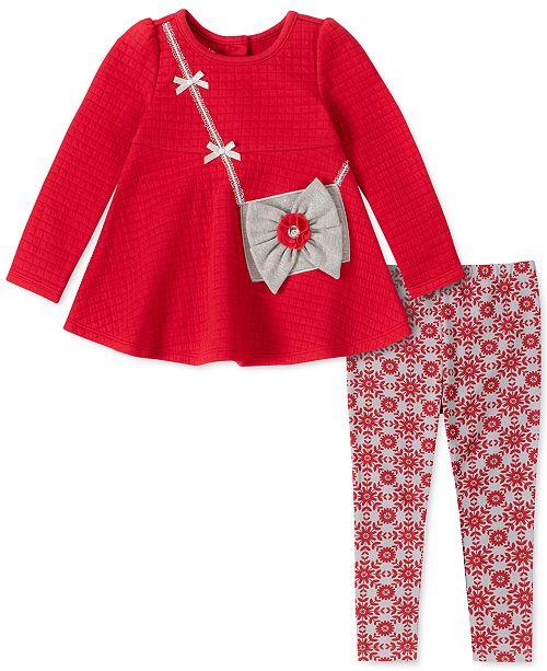 Kids Headquarters Little Girls 2-Pc. Purse Tunic & Printed Leggings Set