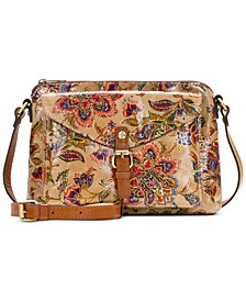 French Tapestry Avellino Leather Crossbody