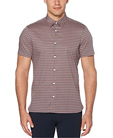 Men's Printed Stretch Regular-Fit Shirt