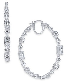 Layla Medium Crystal Hoop Earrings, Created for Macy's