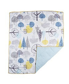 In The Woods Quilted Baby Comforter