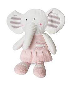 Knitted Plush Toy - Amelia Elephant