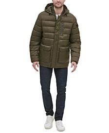 Men's Oversized Bellow Pocket Hooded Puffer Jacket