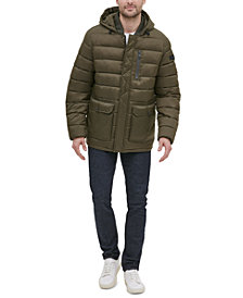 Kenneth Cole New York Men's Oversized Bellow Pocket Hooded Puffer Jacket