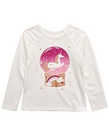 Little Girls Unicorn Snow Globe T-Shirt, Created For Macy's