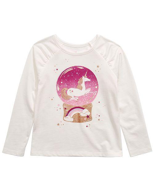 Epic Threads Little Girls Unicorn Snow Globe T-Shirt, Created For Macy's