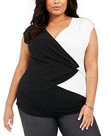 Plus Size Colorblocked Top, Created For Macy's