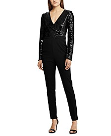 Sequined-Top Jumpsuit
