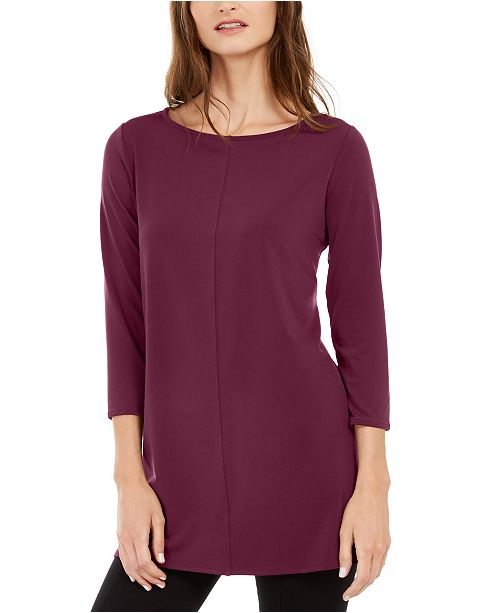 Alfani 3/4-Sleeve Tunic, Created For Macy's