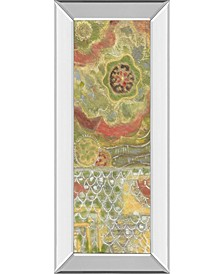 """Moroccan Whimsy I by Karen Deans Mirror Framed Print Wall Art - 18"""" x 42"""""""