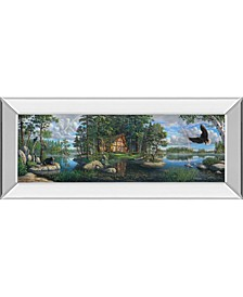 """Freedoms Promise Trilogy by Kim Norlien Mirror Framed Print Wall Art - 18"""" x 42"""""""