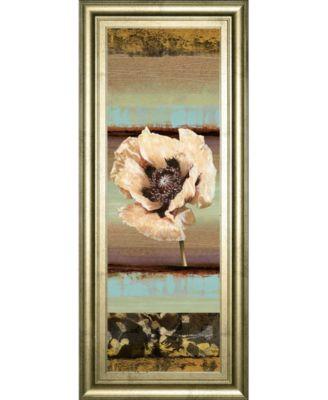 "Elemental Poppy I by Selina Werbelow Framed Print Wall Art - 18"" x 42"""