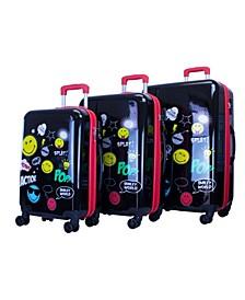 Pop Design 3 Piece Luggage Set