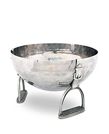Pewter Stirrup Ice, Wine, Champagne Bucket Tub