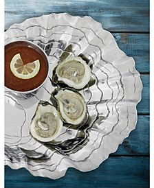 Designs Aluminum Oyster with Pearl Chip and Dip