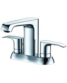 Polished Chrome Two-Handle 4'' Center set Bathroom Faucet