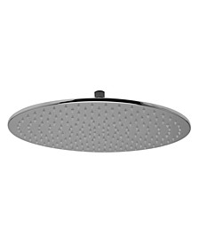 "Polished Chrome 16"" Round Multi Color LED Rain Shower Head"