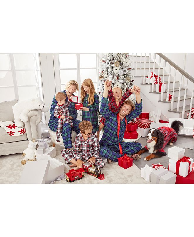 Family Pajamas Matching Plaid Collection, Created For Macy's