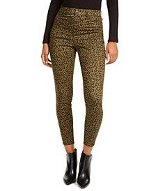 Juniors' Animal Print Skinny Jeans