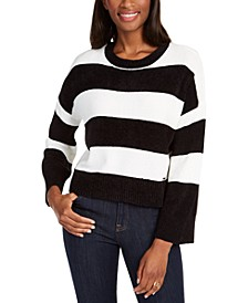 Rugby-Striped Chenille Sweater
