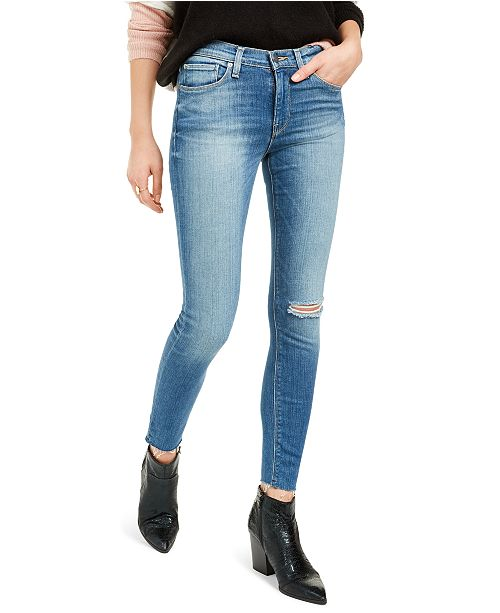 Hudson Jeans Nico Distressed Ankle Skinny Jeans