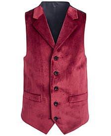 Big Boys Classic-Fit Red Velvet Vest
