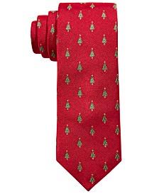 Big Boys Classic Holiday Tree Silk Tie