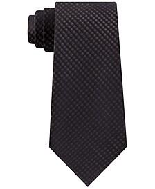 Men's Slim Fine Metallic Grid Tie