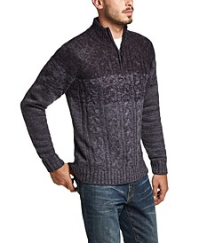 Men's Ombré Quarter-Zip Sweater