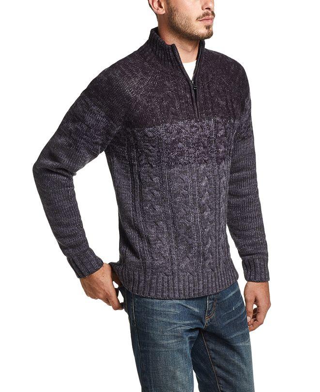 Weatherproof Vintage Men's Ombré Quarter-Zip Sweater