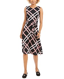 Printed Fit & Flare Dress, Created for Macy's