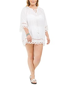 Plus Size Crochet-Trim Cover-Up