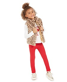 Toddler Girls Reversible Vest, Glitter T-Shirt & Sweater Leggings, Created For Macy's
