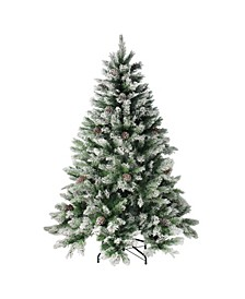7' Flocked Angel Pine Artificial Christmas Tree - Unlit