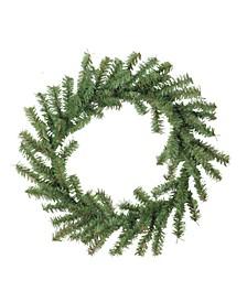 "12"" Mini Pine Artificial Christmas Wreath - Unlit"