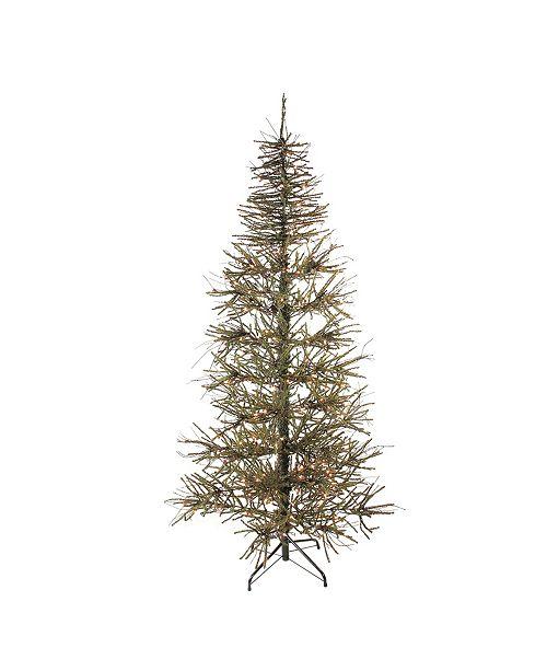 Northlight 7' Pre-Lit Slim Warsaw Twig Artificial Christmas Tree - Clear Lights
