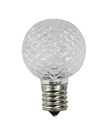 Pack of 25 Faceted LED G40 Clear Christmas Replacement Bulbs
