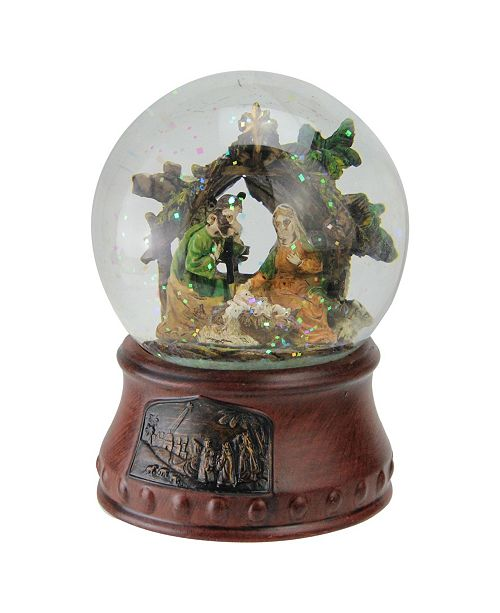 "Northlight 5.5"" Musical Christmas Nativity Water Glitterdome Decoration"