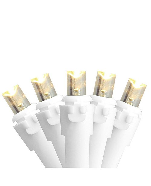 Northlight Set of 50 Warm White LED Wide Angle Christmas Lights - White Wire