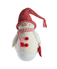 "37"" Tumbling Sam the Snowman with Red hat and Scarf Christmas Decoration"