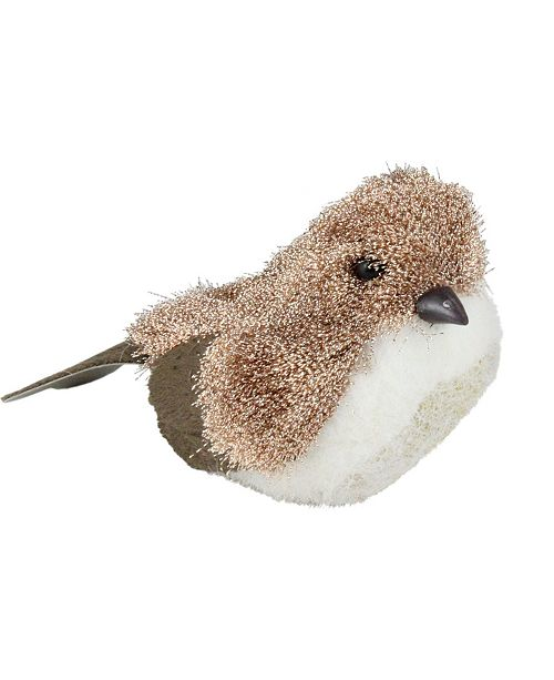 """Northlight 6.5"""" Copper Brown and White Bird Christmas Figure Decoration"""