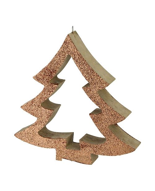 "Northlight 7"" Copper Glittered Cutout Tree Christmas Ornament"