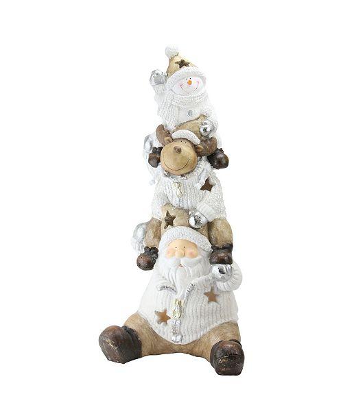 "Northlight 26"" LED Lighted Santa Reindeer and Snowman Christmas Decoration"