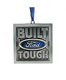 "3"" Officially Licensed Built Ford Tough Brushed Nickel Plated Christmas Tree Ornament"